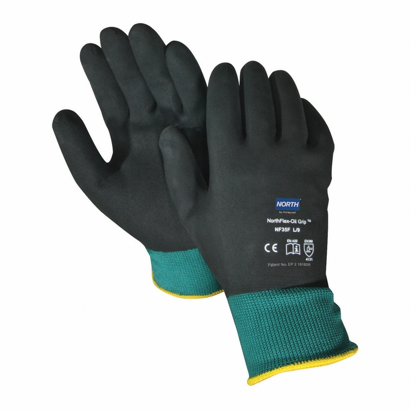 North Northflex Oil Grip Full Nitrile Coated Glove Nf35f