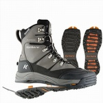 SnowJack Insulated Boot w Interchangeable Ice Traction Soles Gun Metal