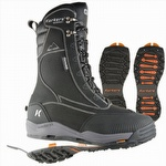 TundraJack Insulated Boot w Interchangeable Ice Traction Soles Black