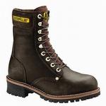 CAT P88034 Men's 9 Slip Resistant Steel Toe Logger Chocolate