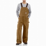 Carhartt R41 Quilt Lined Zip-to-Thigh Bib Overall Carhartt Brown
