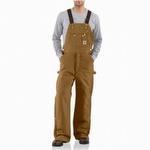 Carhartt R41 Quilt Lined Zip-to-Thigh Bib Overall Carhartt Brown