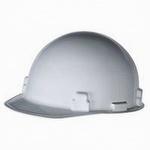 Radnor White SmoothDome SlottedCap Style Hard Hat w Ratchet Suspension