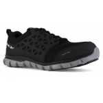 Reebok RB4041 Mens Sublite Cushion Work EH Alloy Black Athletic Oxford