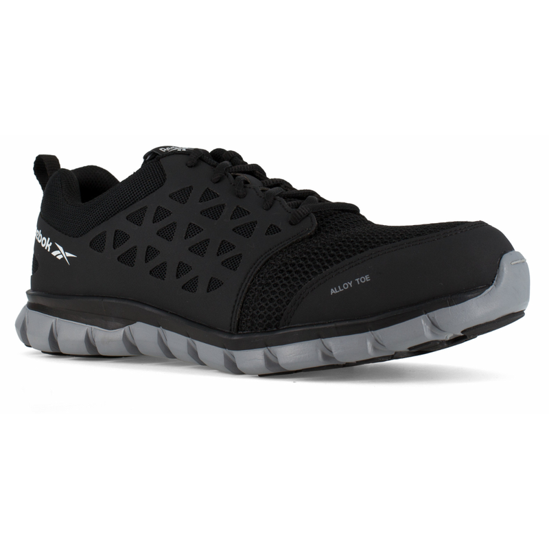 7d2b3eba266a Reebok RB4041 Mens Sublite Cushion Work EH Alloy Black Athletic ...