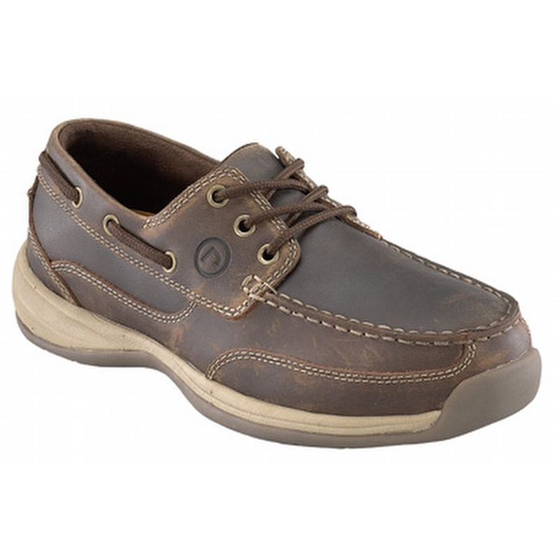 Rockport Works Men S Sailing Club Steel Toe Boat Shoes