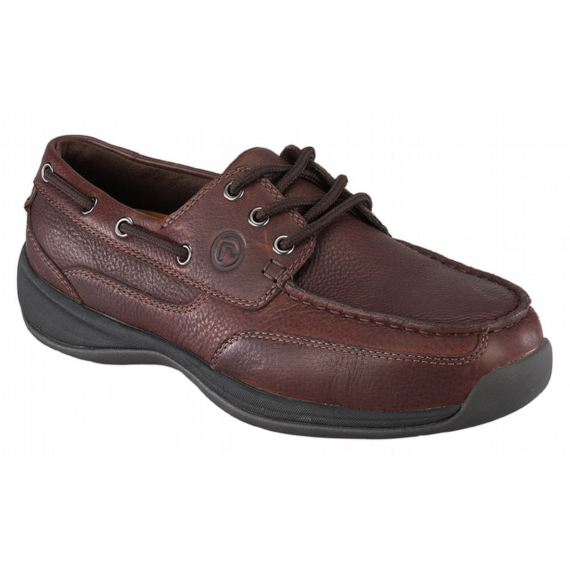 rockport works s sailing club steel toe boat shoes