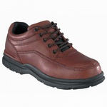 Rockport Works Men's World Tour Brown Steel Toe ESD Oxford