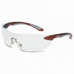 Sperian S4410 UVEX Metallic Red and Silver Frame with Clear Lens