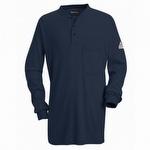 Bulwark FR Tagless Henley Navy Shirt