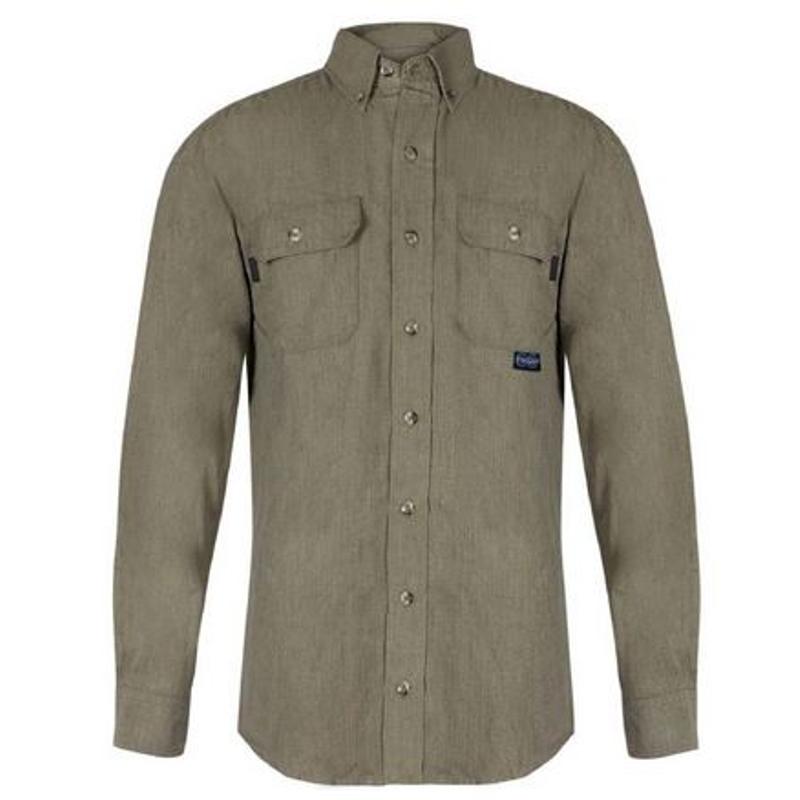 f5e743d89c4 TECGEN CC FR Button Down Shirt 6 oz Tan