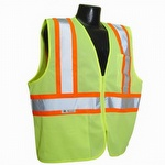Radians Economy Class 2 Safety Vest with Two-Tone Trim Hi Vis Green