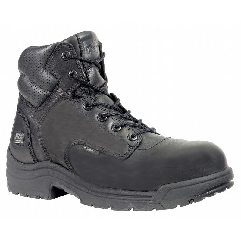 Black Composite Toe Leather Boot