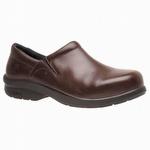 Timberland Pro 85599 Newbury ESD Brown Slip-On Women's Alloy Toe Shoe
