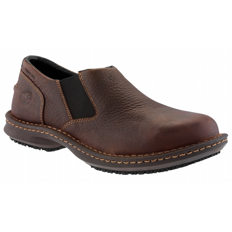 timberland pro 86509 gladstone brown esd steel toe slip on