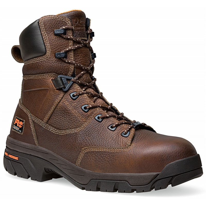 59a454cb6fa Timberland Pro 87566 Helix 8-inch Waterproof Brown Composite Toe Boot