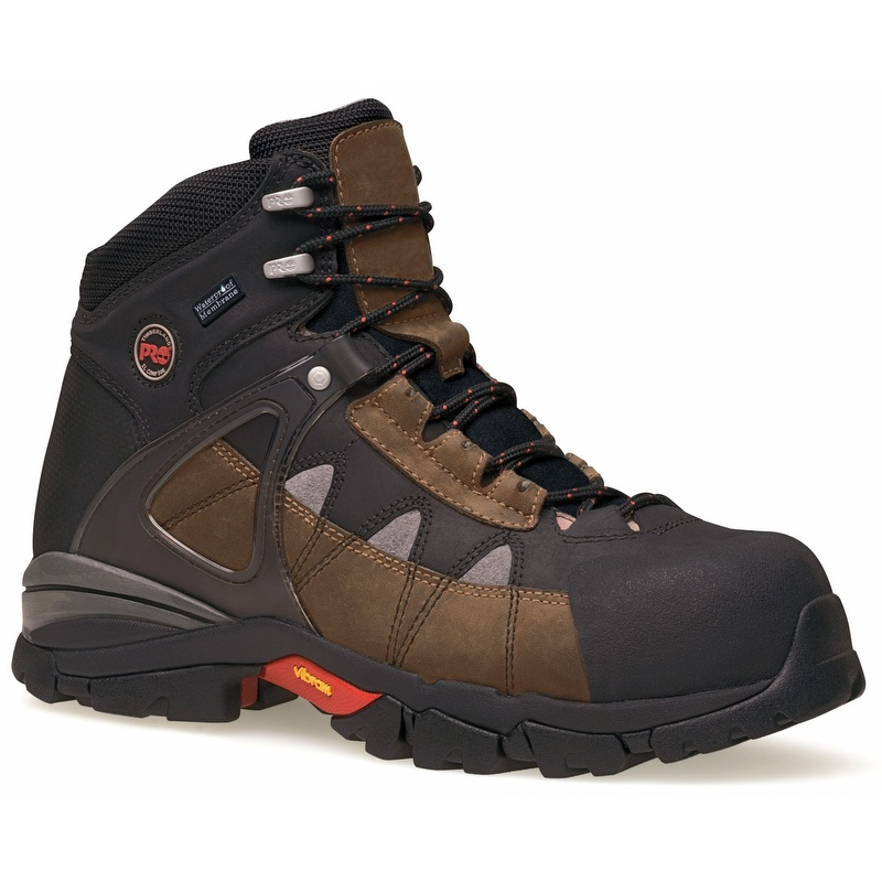 4cecf288f90 Timberland Pro 90646 Hyperion 6-inch Waterproof Brown Alloy Toe Boot