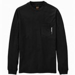 Timberland Pro Base Plate Blended Long-Sleeve T-Shirt Jet Black