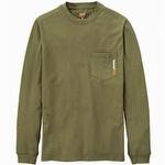 Timberland Pro Base Plate Blended Long-Sleeve T-Shirt Burnt Olive