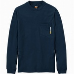 Timberland Pro Base Plate Blended Long-Sleeve T-Shirt Dark Navy