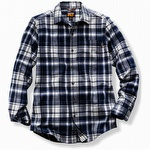 Timberland Pro R-Value Flannel Work Shirt Navy Plaid