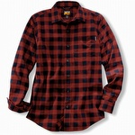 Timberland Pro R-Value Flannel Work Shirt Red Plaid