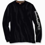 Timberland Pro Base Plate Long-Sleeve Logo Tee Jet Black
