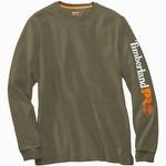 Timberland Pro Base Plate Long-Sleeve Logo Tee Burnt Olive