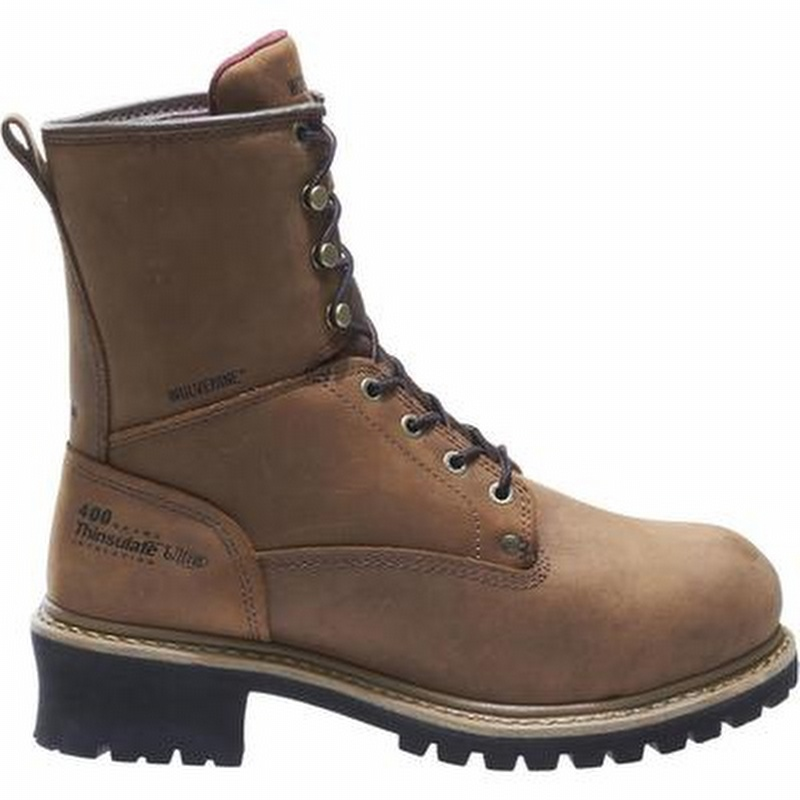0051e771457 Wolverine Snyder Insulated WP 8-inch EH Steel Toe Logger Boots