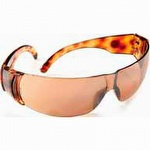 Sperian Tortoise Shell Frame Scratch Resistant Mirror Safety Glasses
