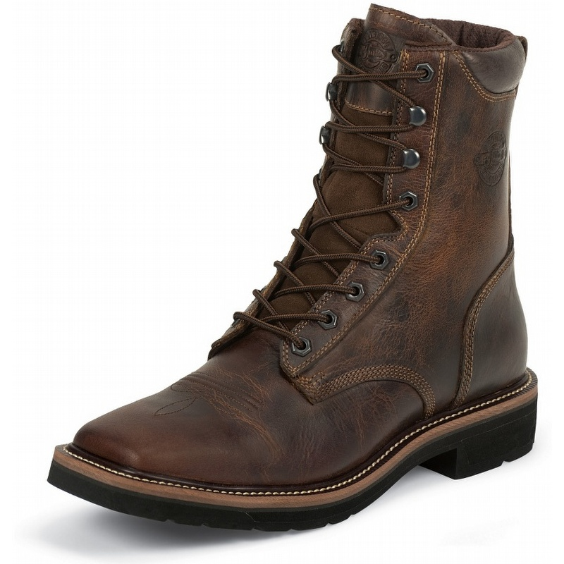 justin boots stede 8 quot rugged square steel toe work