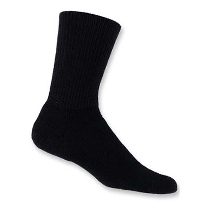 17b6165f655 Thorlo Thorlon Walking Crew Socks Black - WXCREW